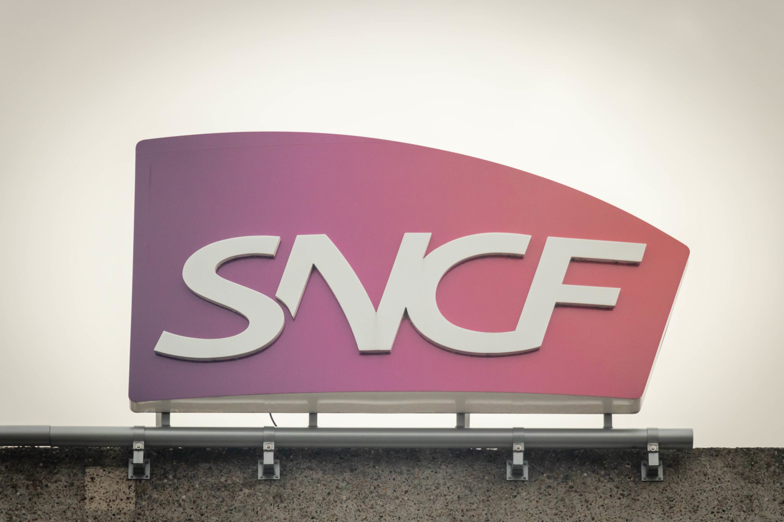 Logo of the sncf at the Paris Bercy train station. Paris, Gare de Bercy, January 25th, 2020.