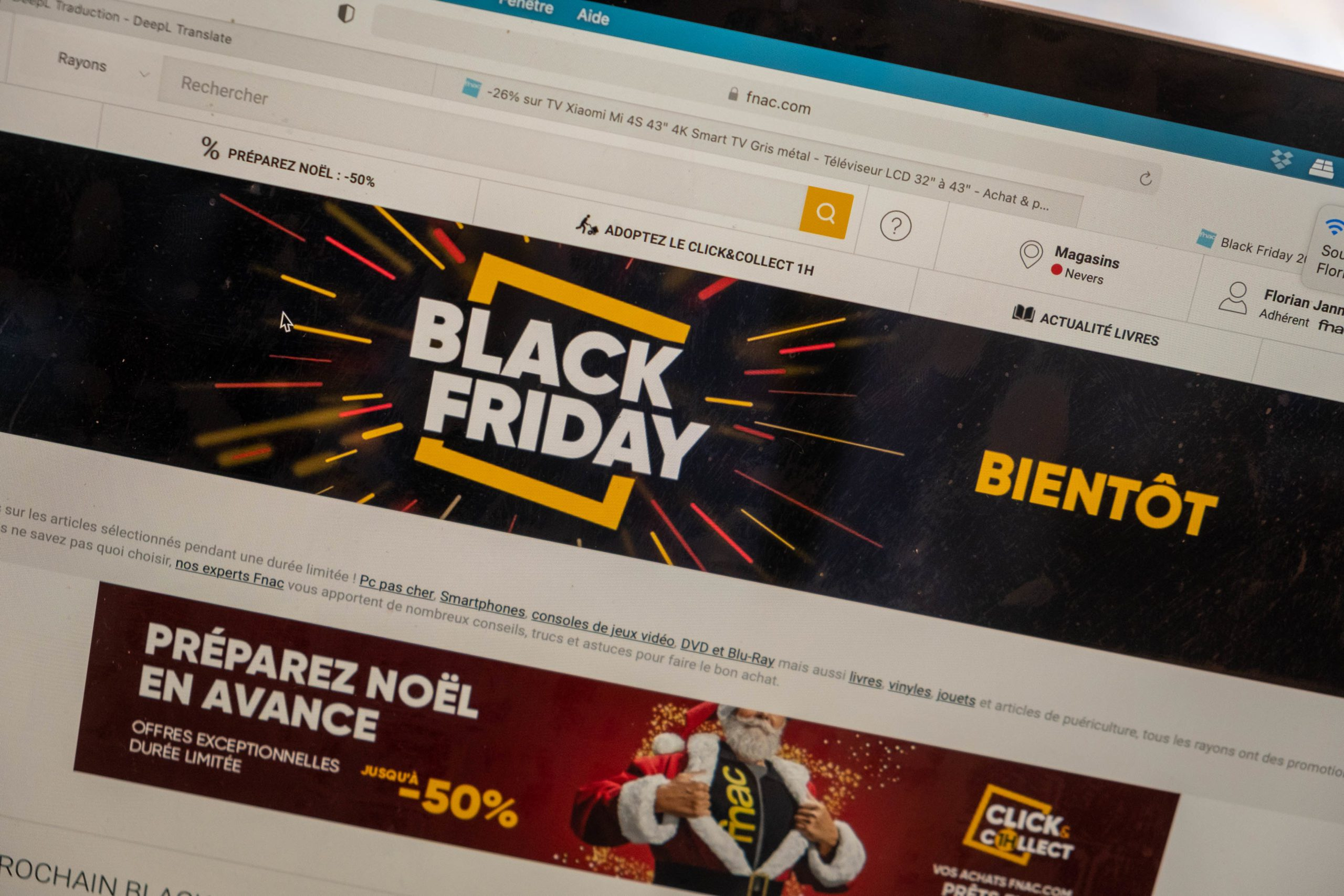 The holding of Black Friday in France in 2020 is debated. The giant Amazon has already announced a postponement at the beginning of December. 22 November 2020, Florian Jannot-Caeilleté / APJ / Hans Lucas.